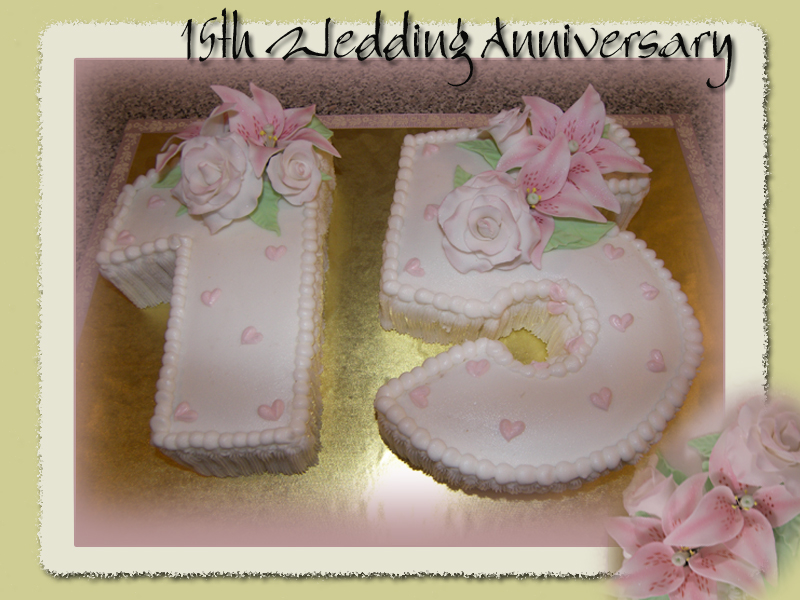 Wedding Anniversary Gifts By Year 15 : 15th Wedding Anniversary Cakes